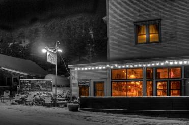 Merc on a Snowy Night