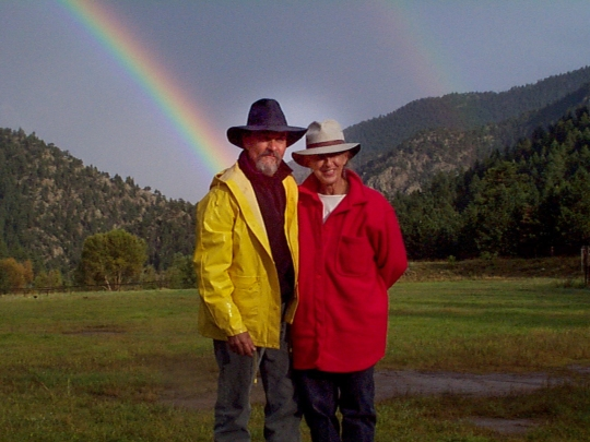 Quinter & Val with rainbow
