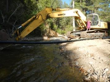 Water line across the creek